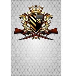 ornamental shield with arms vector image
