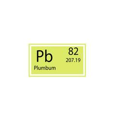 periodic table element plumbum icon element of vector image