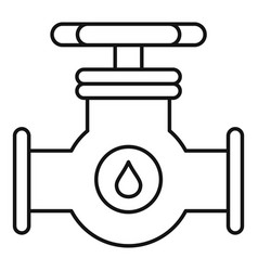 petrol tap pipe icon outline style vector image