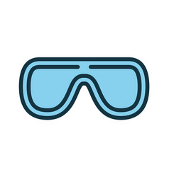 protective glasses icon personal protection vector image