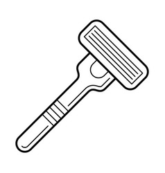 razor bladed tool for shaving vector image