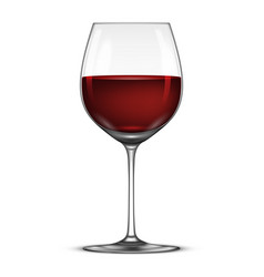 realistic wineglass with red wine icon vector image