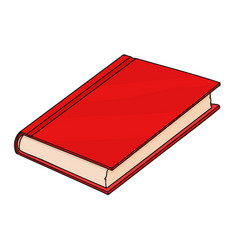 Red book doodle style vector