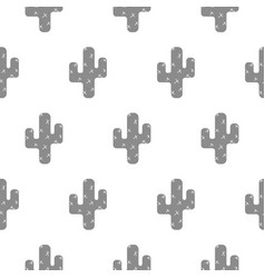 Seamless pattern with cactus scandinavian vector