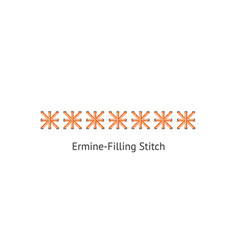 seamless straight sewing machine or hand basic vector image