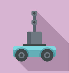 Self driving farm machinery icon flat style vector
