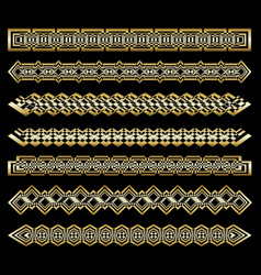 set of art deco patterns and ornaments creative vector image