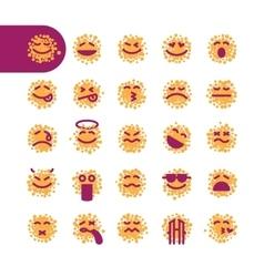 Set spotty emoji emoticons vector