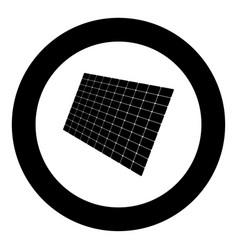 solar panel icon black color in circle vector image