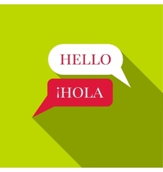 Speaking spanish icon flat style vector