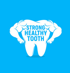 strong healthy tooth icon dental care vector image