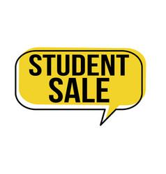 student sale speech bubble vector image