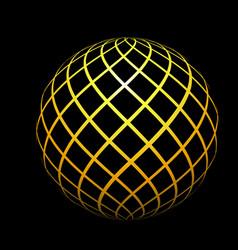 Symmetrical ball diagram vector