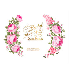 The bridal shower invitation vector