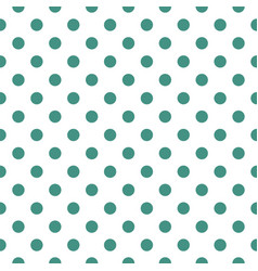 Tile pattern with pastel mint green polka dots vector