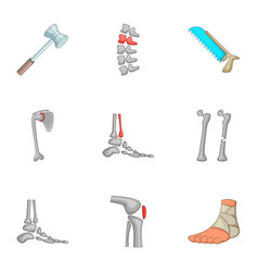traumatology and orthopedics icons set vector image