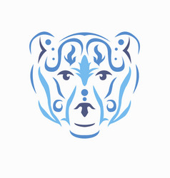tribal bear vector image