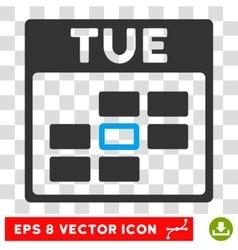 Tuesday Calendar Grid Eps Icon vector