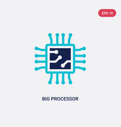 two color big processor icon from hardware vector image