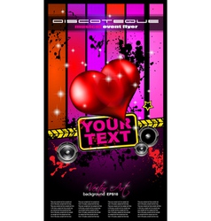 Valentines Music Club Event poster vector image