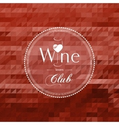 Wine club concept label vector image