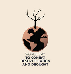 world day to combat desertification and drought vector image