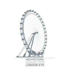London Eye Wheel vector image vector image