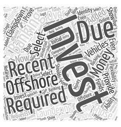 Offshore Investment Banking Word Cloud Concept vector image vector image