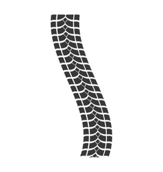 print wheel tire shape black icon graphic vector image