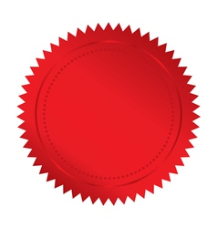 red seal vector image vector image