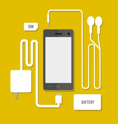 Smart phone set vector image