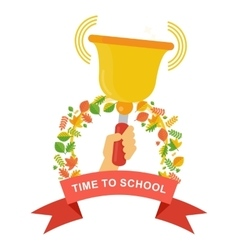 time to school poster vector image vector image