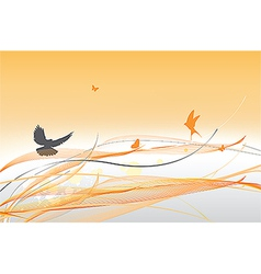 abstract colorful background with butterfly vector image