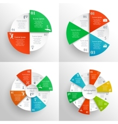 Circle infographics set vector image vector image