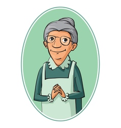 elderly woman characters vector image vector image