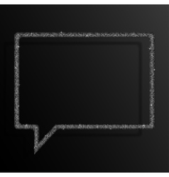 Frame Silver Sequins Speech Bubble Stars vector image