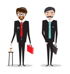 men in business suits businessmen cartoon people vector image vector image