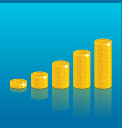 pound coin stack vector image