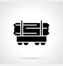 rail car of wood glyph style icon vector image
