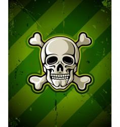skull and skeleton bones vector image vector image