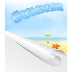 Summer Beach Poster vector image vector image