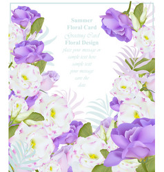 summer watercolor flowers beauty vector image vector image