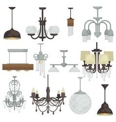 Chandelier various type set different hanging vector