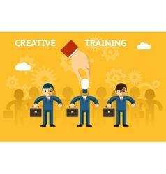 Creative training vector image