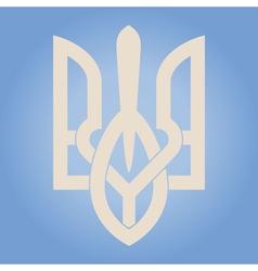 Decorative Ukrainian Trident vector image vector image