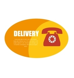 delivery service telephone design icon vector image