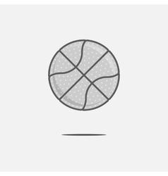 Dribbling Basketball Ball Logo vector image