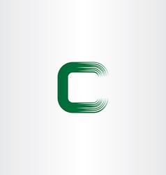 Green c letter logotype sign vector