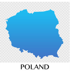 Poland map in europe continent design vector