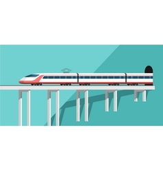 Travel by train vector image vector image